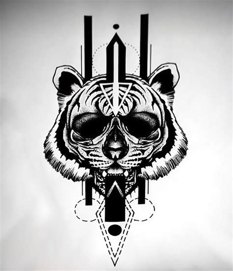 cool blackwork sketch tattoo design