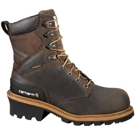 s carhartt 174 8 quot waterproof composite toe logger boots