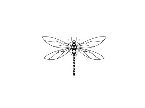 thin tribal tattoo designs thin and wings of dragonfly lawas