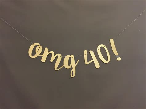 40th birthday decorations 40th birthday banner 40th