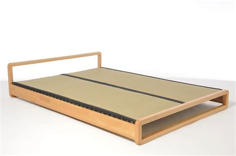 tatami mat futon low wooden double bed in solid birch futon company