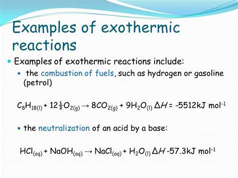 exle of endothermic reaction energetics ppt