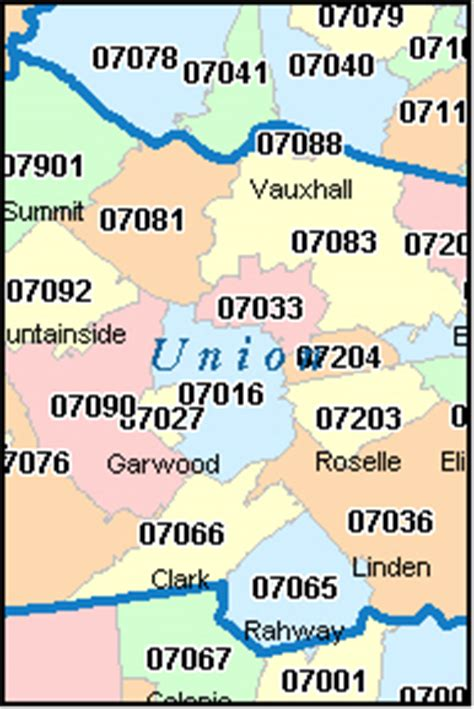 plainfield new jersey nj zip code map downloads