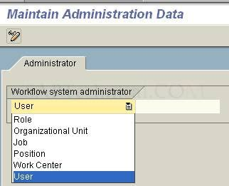 sap workflow administrator saptechnical maintaining workflow administrator