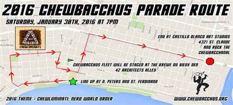 route of new year parade 2016 intergalactic krewe of chewbacchus 2016 parade route