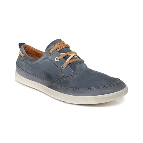 ecco sneakers mens lyst ecco collin nautical sneakers in blue for