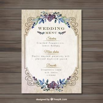 Menu Card Vectors Photos And Psd Files Free Download Wedding Menu Size Template