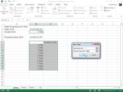 one variable data table excel how to create a one variable data table in excel 2013