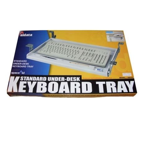 underdesk keyboard drawer white aidata kb003 under desk keyboard tray platinum white nexhi