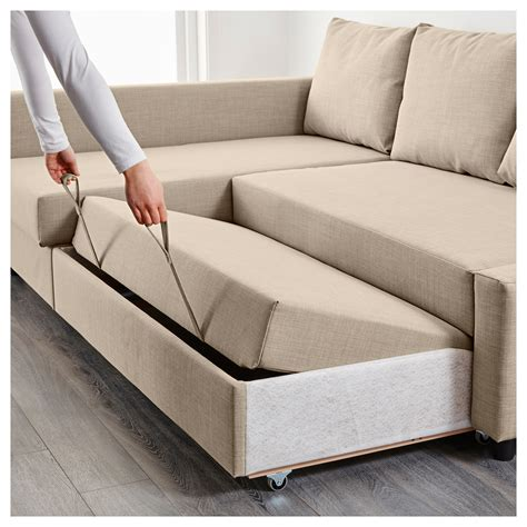 Friheten Corner Sofa Bed With Storage Skiftebo Beige Ikea Storage Sofa Bed Furniture