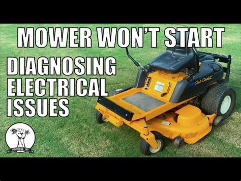 fixed mower   start safety switch diagnosis