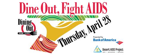 Dining Out For Life, presented by Bank of America, returns Thursday, April 28   Desert AIDS Project