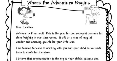 Parent Welcome Letter From Preschool Learning And Teaching With Preschoolers Welcome Parents