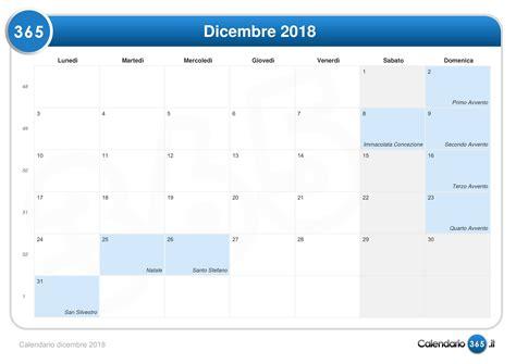 Calendario 8 Dicembre Calendario Dicembre 2018