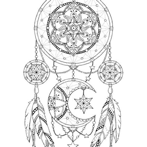 hair dreams coloring book for adults books dreamcatcher coloring page for adults mandala