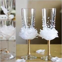 Stemware Wine Glasses How To Diy Flower Bead Decorated Wine Glasses