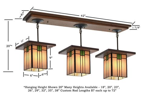 craftsman style lighting fixture