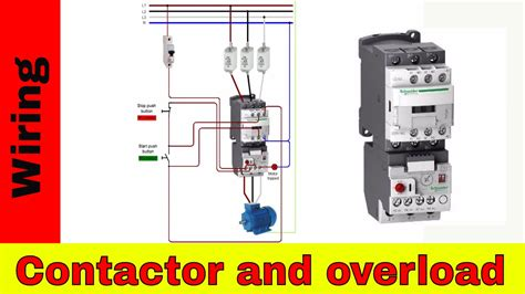 wire  contactor  overload direct