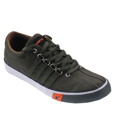 sparx green canvas causual shoes price as on 21 06 2017 00