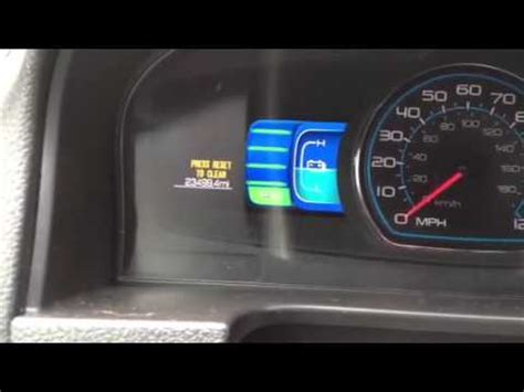 how to reset oil change light how to reset ford fusion 2012 oil change light youtube