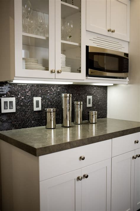 black kitchen backsplash black tile backsplash kitchen contemporary with above counter microwave backsplash