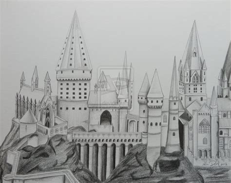 coloring pages of hogwarts castle how to draw hogwarts castle
