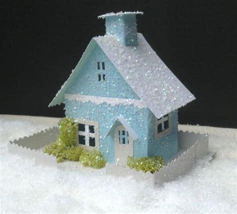 putz houses christmas putz house glitter house christmas village handmade chri