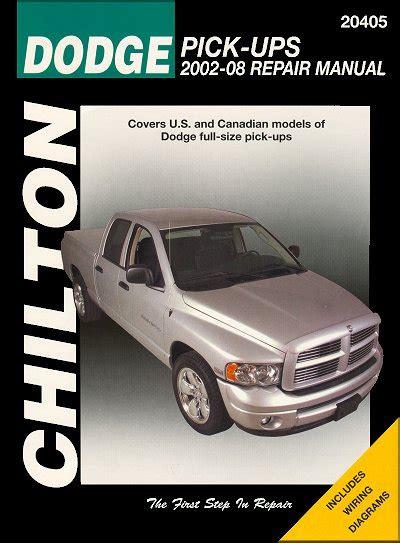 motor auto repair manual 2002 dodge ram van 2500 lane departure warning dodge ram pickup trucks repair manual 2002 2008 chilton