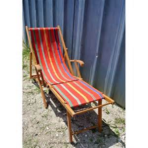 transat chaise longue en bois 1960 233 224 repose pied