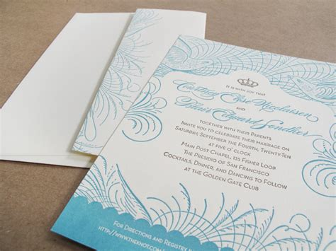 Wedding Invitations San Francisco by Vintage Inspired San Francisco Wedding Invitations