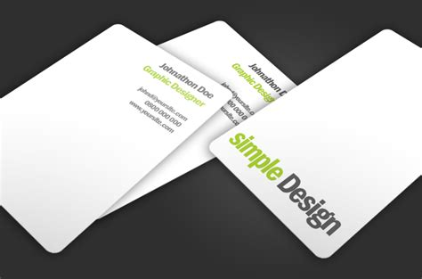 business card design website template simple design free business card template millions