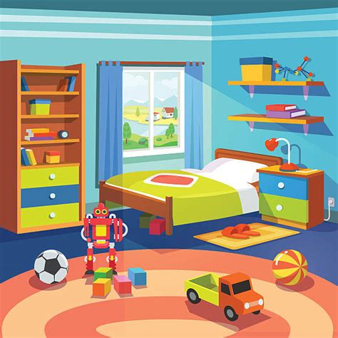 Kids room clip art vector images amp illustrations istock