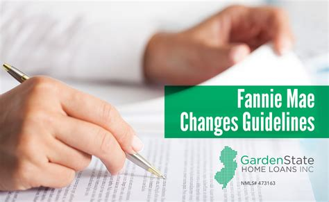 fannie mae changes guidelines 1 garden state home loans
