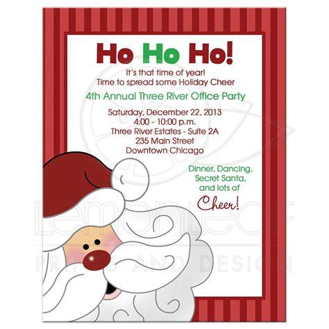 Santa Claus Christmas Office Party Invitation Office Invitation Template