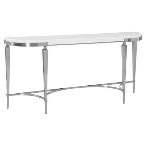 Quartz Console Table Hayley Regency White Quartz Stop Demilune Console Table Kathy Kuo Home
