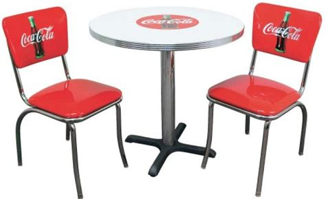 coca cola table and chairs set set de diner us table rectangulaire blanche 4 pieds 4