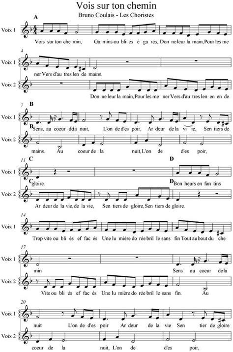 tutorial piano vois sur ton chemin vois sur ton chemin les choristes partition voix complete