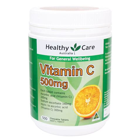 Vitacimin Tablet Hisap Vitamin C 500mg Original Buy Healthy Care Vitamin C 500mg Chewable 500 Tablets
