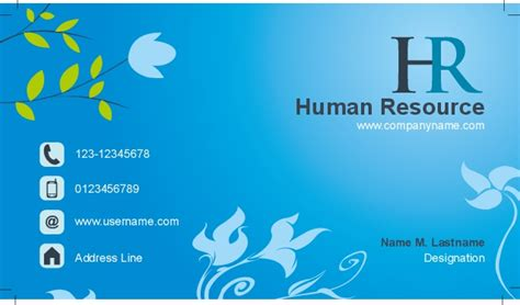 hr business cards templates business card