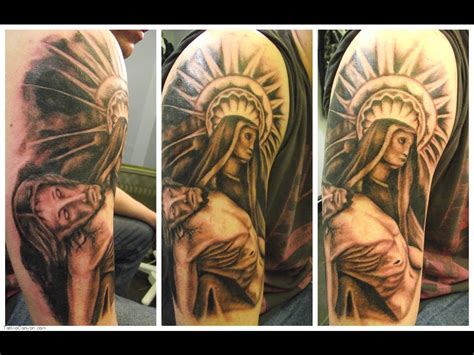 full sleeve religious tattoo designs christian sleeve designs for