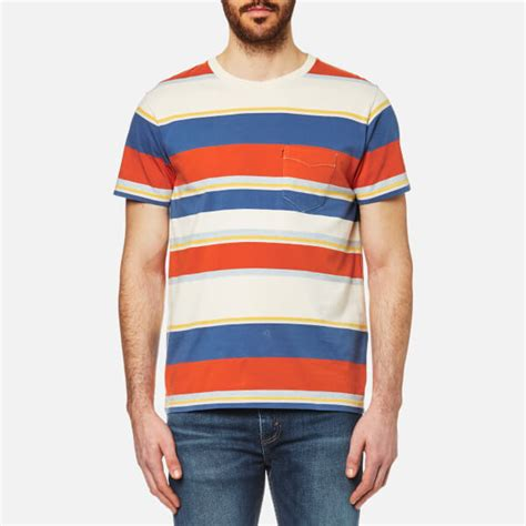 Tshirt Anak Levis Oranye levi s orange tab s pocket t shirt stripe clothing thehut