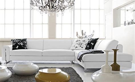 small l shaped simple white cattle leather modern sofa