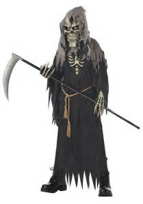 Scary Costumes For Kids Kids Dark Messenger Costume Boys Scary Grim Reaper Costume Ideas