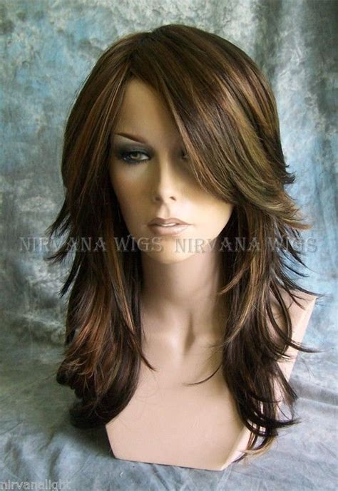 pics of different tones of highlights bangs only 25 best ideas about long layered bangs on pinterest