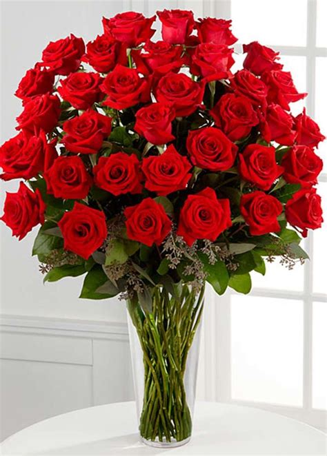 Home Decor At Wholesale Prices by 36 Stems Red Rose Arrangement Flower Co
