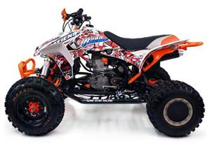 Honda Atv 450r Dfr Bomber Honda Trx 450r Er Atv Graphics White Orange