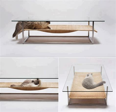 Cat Coffee Table A Coffee Table For Cats Technabob