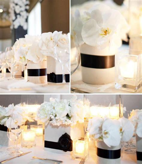 centros de mesa en blanco y negro paperblog