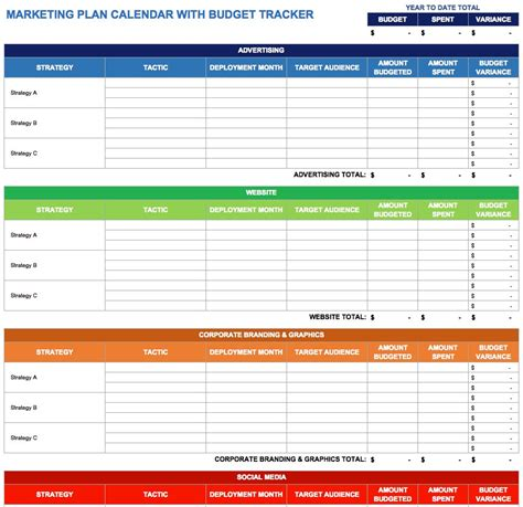 9 Free Marketing Calendar Templates For Excel Smartsheet Advertising Plan Template