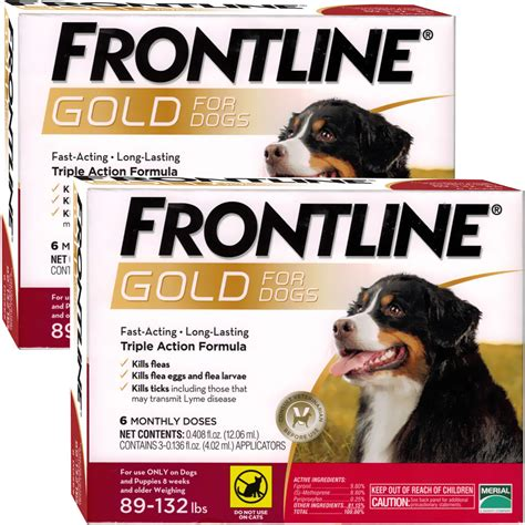 frontline plus for dogs 89 132 lbs frontline gold for dogs 89 132 lbs 12 month